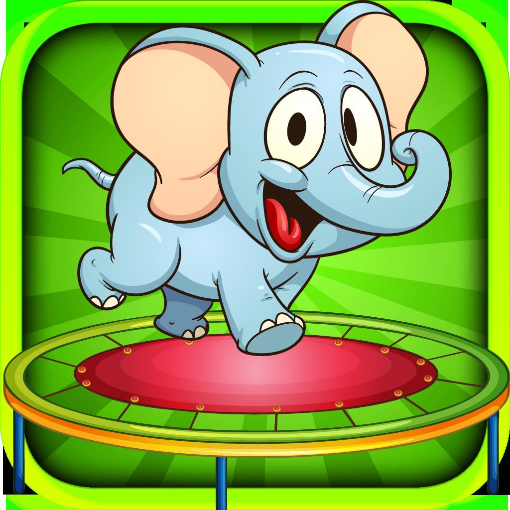 Baby Elephant Trampoline Adventure